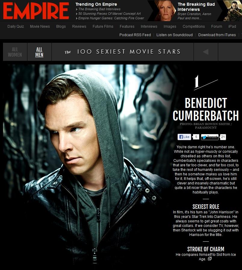 Benedict Cumberbatch Empire sexiest cover Truncatech