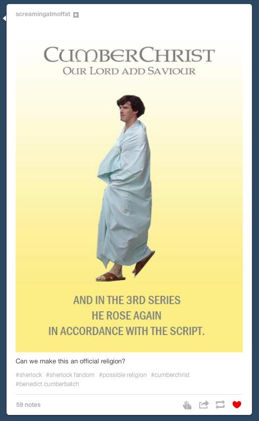Cumberchrist Sherlock bedsheet meme season 3 truncatech